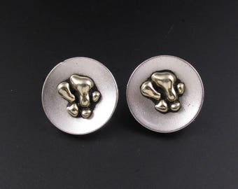 Swank Abstract Cuff Links, Swank Cuff Links, Silver Cuff Links, Large Cuff Links