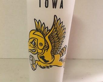 """1960's Iowa Hawkeyes """"Herky"""" Glass"""
