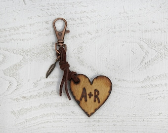 Custom wood Keychain, Black Friday, Gifts for Him, wooden gift,men's keychain, gift for men, wood burned, anniversary gift
