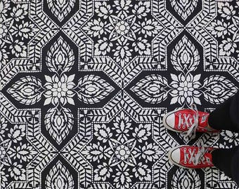 Tile Stencil Alhambra Allover - Better than Wallpaper - Easy and Affordable DIY Home Improvement