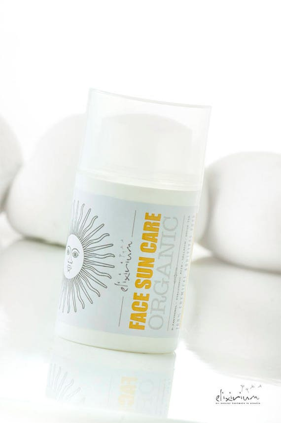 FACE SUN CARE • Organic Face Sunscreen. Specialized facial sun protection cream formula.