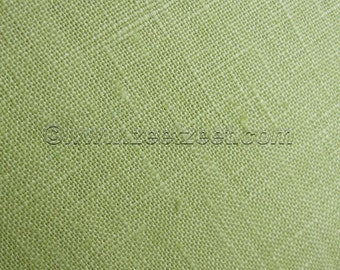"100% Belgian Linen Celery Green Extra Wide 52/54""  Fabric - 1 Yard"