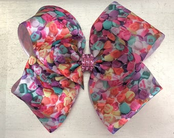 Sweetheart Candy Hearts HairBow