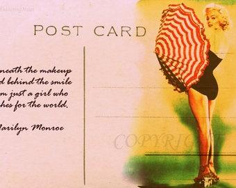 Marilyn Monroe postcard art
