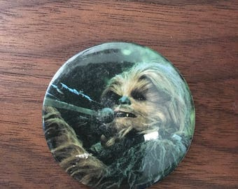 Star Wars Chewbacca Vintage Button Pin Pinback Official Licensed ROTJ