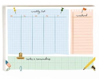Weekly List Desk Notepad