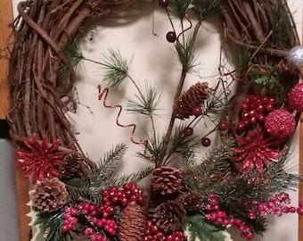 """Christmas wreath 15"""""""