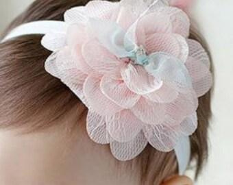 Baby Girl Gift,  Baby Headband, Baby girl Headband, Newborn headband, Baby headbands, Pink and blue Headband,