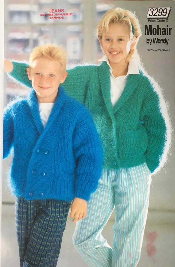 Childrens Cardigan Knitting Pattern Wendy Knitting Pattern