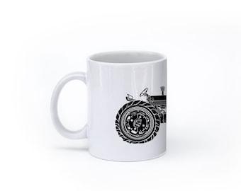 KillerBeeMoto:    Vintage American Tractor Coffee Mug (White)
