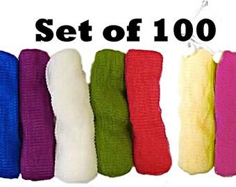 100 LOOFA Soap Sack Savers - Nylon Mesh Pouch for Bath & Shower (Bulk / Wholesale Pricing)