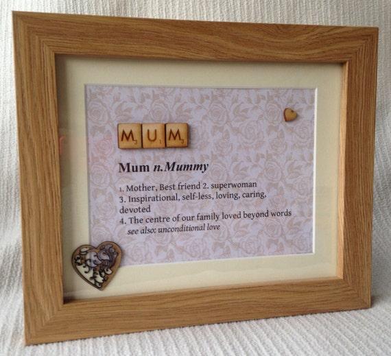 Mum Quote Frame Mum Gift Frame Mums Birthday Mum