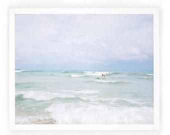 Dog Photography, Surf, Dog Surfing, Home Photography Decor, Art Print, Ocean, Beach, Wall Art, Photography, Animal, Decor. Dog Surfer Print