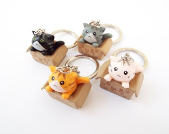 adorable lost kitten cat neko keychains choose from 4 different colors perfect gift idea