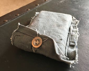 Vintage 1940's Blue Headphone / Credit Card Pouch