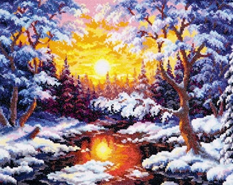 Cross Stitch Kit Sunset