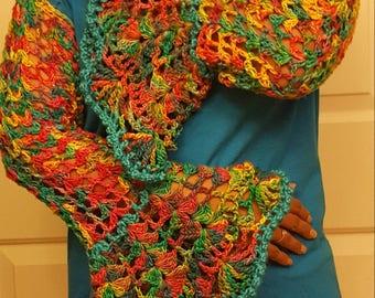 Bohemian sleeved shirt! Made from varities of thread, yarn & silk! Proceeds go to charity!