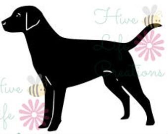 Labrador Retriever Instant Download * Lab Dog Silhouette SVG File * Instant Download File * SVG DXF & Png File * dog black lab download