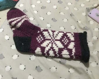Acrylic wool sock