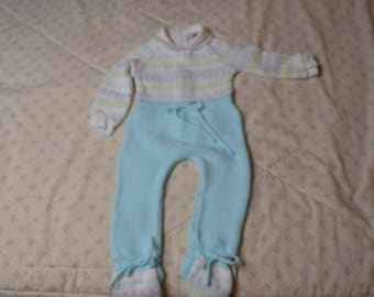 Vintage One Piece Sweater Outfit for a Baby Up to 6 Months by Petit  Jouet