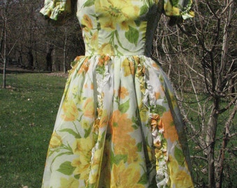 Vintage Dress by California Ranchwear - Size S -  Gorgeous