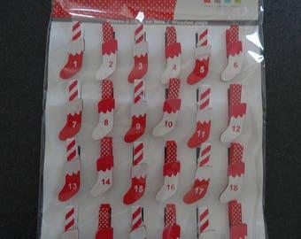 24 figures - advent calendar mini socks - darts - artemio