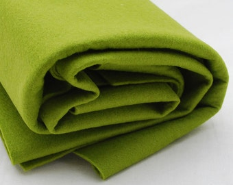 100% Pure Wool Felt Fabric - 1mm Thick - Made in Western Europe - Yellow Green