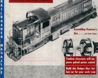 model Railroader magazine September 1954 Excellent Condition