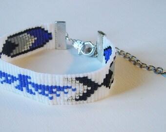 """Indian"" white - glass miyuki Beads Bracelet"