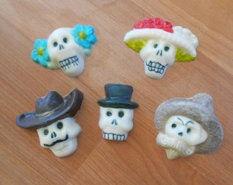 Day of the Dead Chocolate Skulls