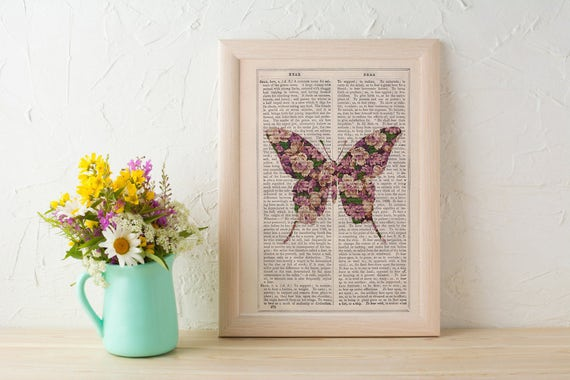 Art  Butterfly silhouette, butterfly flowers pattern art collage, Wall art, Wall decor, Digital prints animal, Giclée, Prints  ANI249