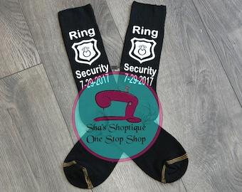 Ring Security Socks  Ring Bearer Socks