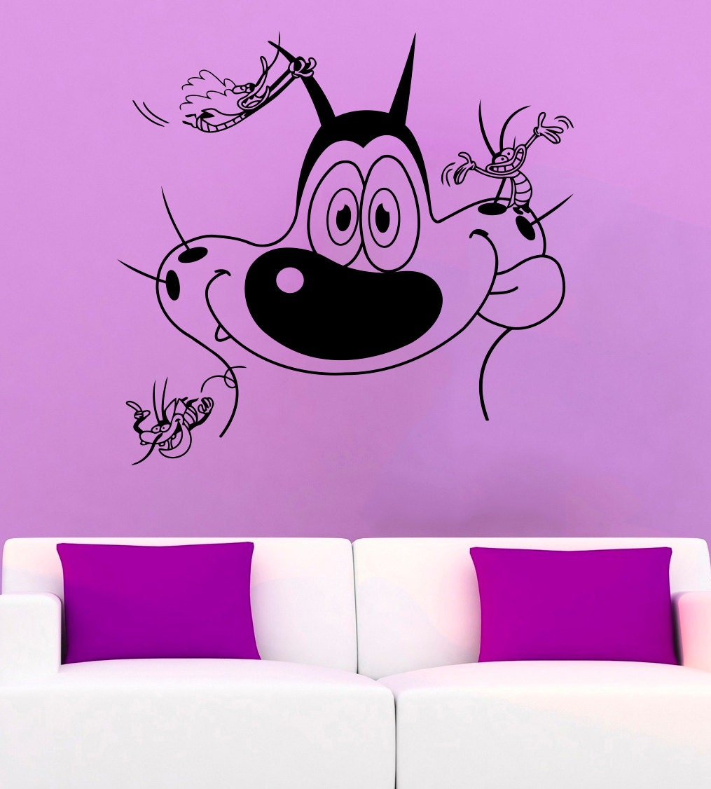 Oggy and the Cockroaches Wall Decal Oggy and Cockroaches Vinyl
