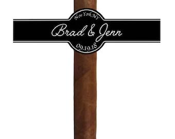 Set of 16 Personalized Wedding Cigar Labels - Custom Cigar Labels - Wedding Favor Gifts - Party Favors - Gift - Cigar band
