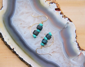 AMALFI turquoise and gold earrings