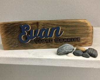 Customized Laser Cut Reclaimed Wood Word Art Name & Name Meaning Plaque