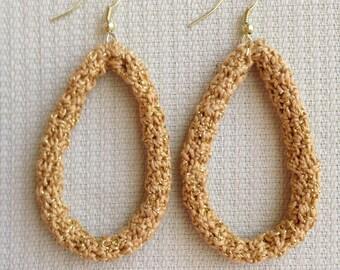 PDF - Instant download - Crochet PATTERN – Jewelry - Crochet Earring  Golden Loops  Pattern