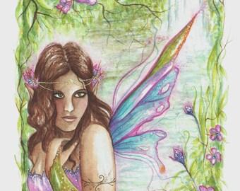Rainforest Fairy ~ Original Watercolour Painting