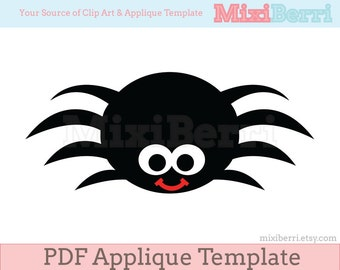 Spider Applique Template PDF Applique Pattern