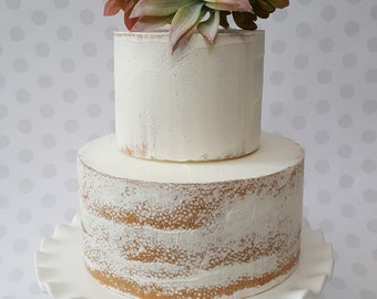 Fake Naked Cake. Two Tier Cake for Photography Props, Event Planners, Wedding Decor, Home Decor,  Bakery Decor,  Staging Props