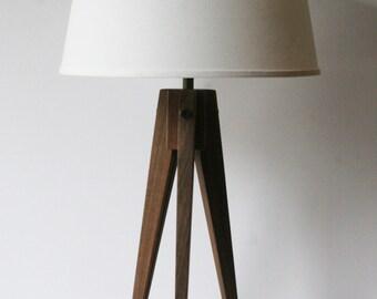 Floor Lamp Tripod Black Walnut