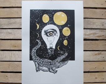 Bowie Screen Print: Natalie Blofield 'Moonage Daydream'