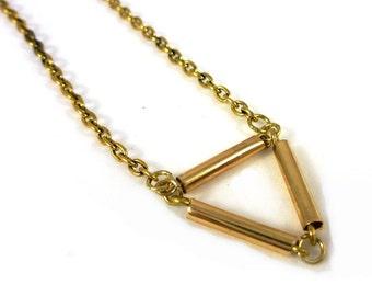 Geometric necklace triangle
