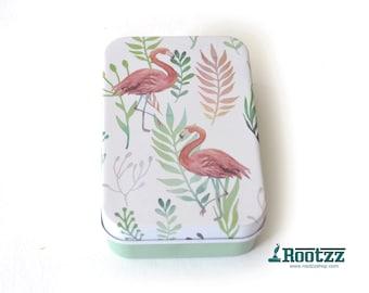 watercolor travel set - portable watercolor set - art set - urban sketching - midori watercolor -flamingo