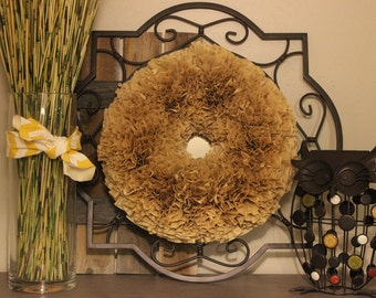 "20"" Natural Coffee Filter Wreath"