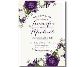 PRINTABLE Wedding Invitation Wedding Invitation Printable Invitation Wedding Invite DIY Wedding Template Wedding Printable #CL307