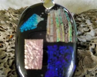 Building Blocks Dichroic Glass Pendant