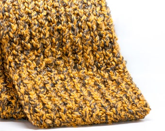 Yellow and Black Infinity Scarf