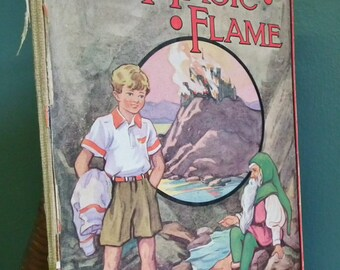The Magic Flame An Original Fairy Story by The Sandman Vintage 40s Children's Book Illustrated by Barbara Spurr fantasy tale - colour plates