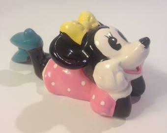 Disney Minnie Mouse, Vintage Ceramic Porcelain Figurine, Walt Disney Productions, UCGC Japan